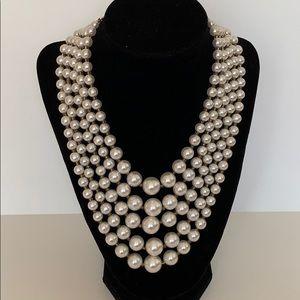Jewelry - Vintage 5-strand Faux Pearl Choker